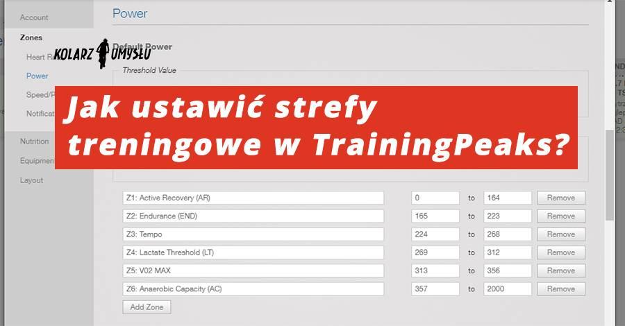 Jak ustawić strefy treningowe w TrainingPeaks?