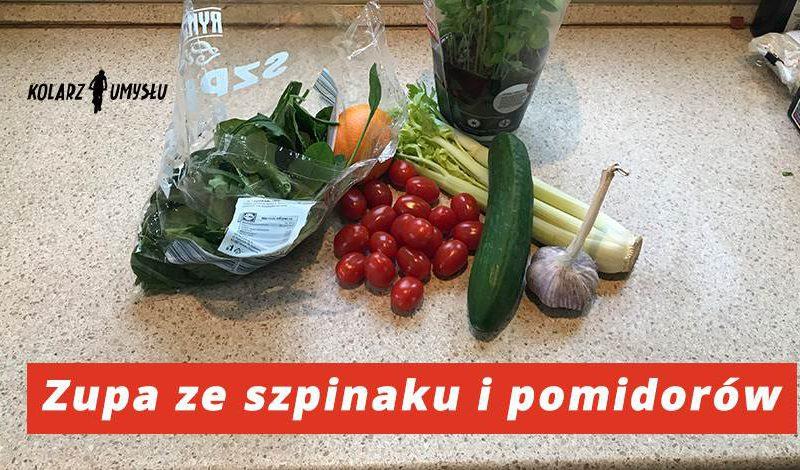 Zupa ze szpinaku i pomidorów na zimno